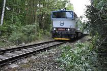 Provoz na trati byl obnoven v pátek po 16. hodině