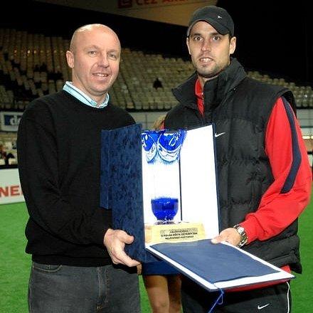 Miroslav Kadlec (vlevo) s exkladenským Lukášem Magerou