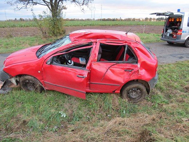 Dopravní nehoda u Hospozína