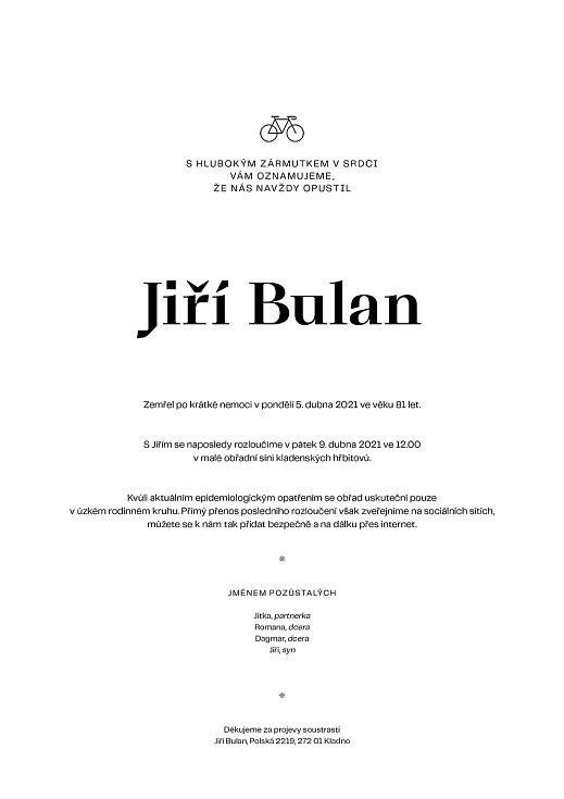 Zemřel aktivní cyklista a bývalý redaktor Kladenského deníku Jiří Bulan.