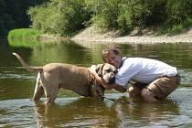 JOSEF FRANTIŠEK KRÁL z Libušína u své oblíbené řeky Berounky.