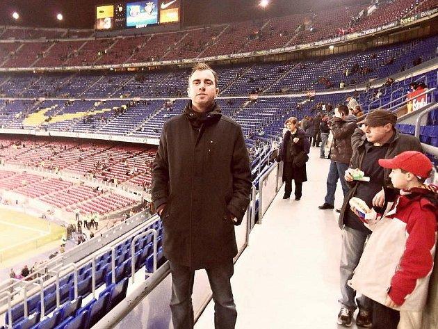 Filip Toncar na stáži v Barceloně. Před zápasem barcy s Osasunou Pamplona