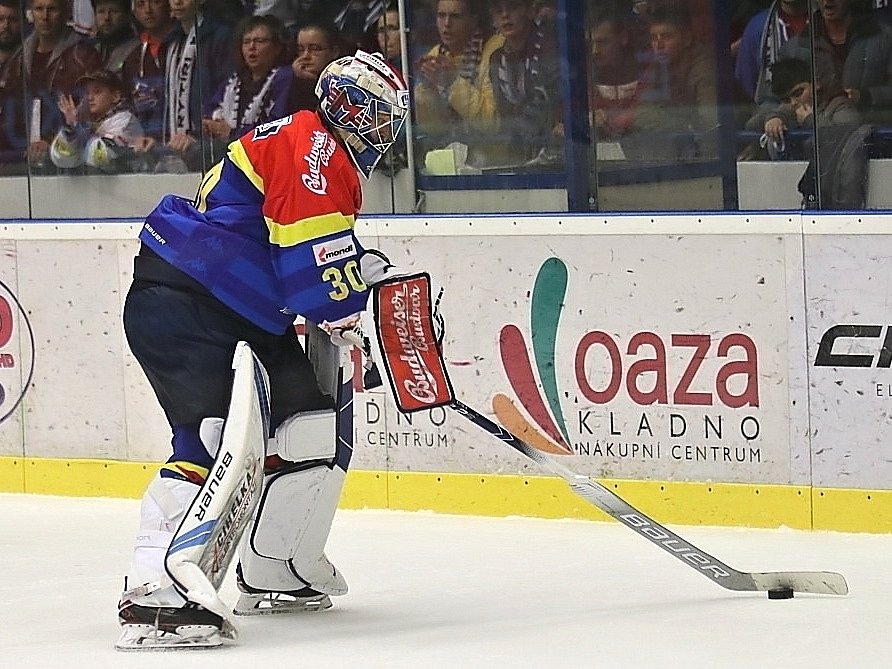 Kladno uspělo ve třetím barážovém duelu, porazilo 2:0 České Budějovice. Petr Kváča