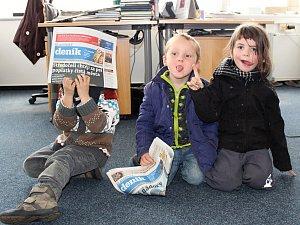 Exkurze budoucích čtenářů v Kladenském deníku