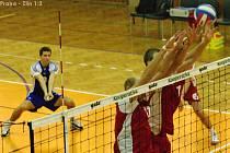 Český pohár mužů - semifinále Kladno / volejbal, utkání čzu Praha - Zlín 1:3, 29.12.2008