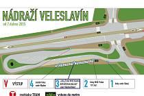 Plán nového terminálu ve Veleslavíně.