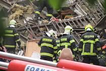 Výbuch rodinného domu v Kladně v ulici 5. května způsobil patrně unikající plyn