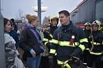 Obyvatelka vyhořelého domu v Americké ulici v Kladně, paní Demeterová