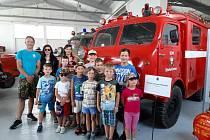 Děti navštívily také hasičské muzeum ve Zbirohu.