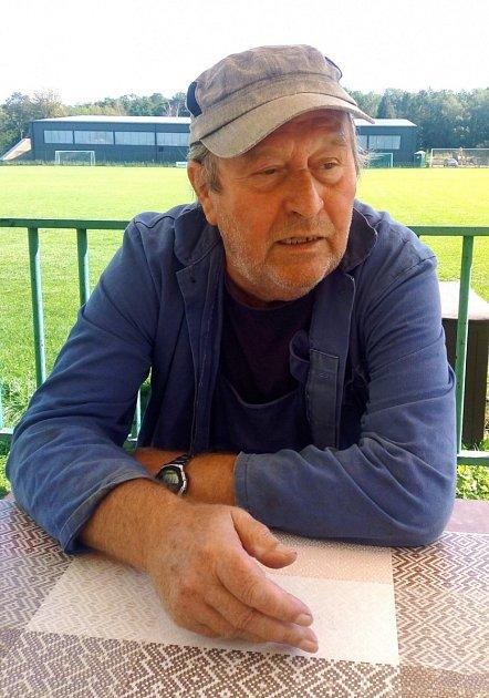 První trenér Davida Hovorky - Jaroslav Šíma. Dodnes vKročehlavech pomáhá, jak to jde.