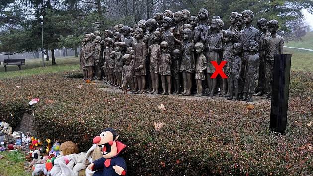 Z Památníku Lidice byla ukradena bronzová socha malé holčičky.