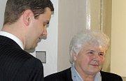 Marie Minaříková a její obhájce Voltěch Veverka.