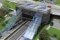 Z rozdělovského mostu bude zároveň nádraží rychlodráhy.