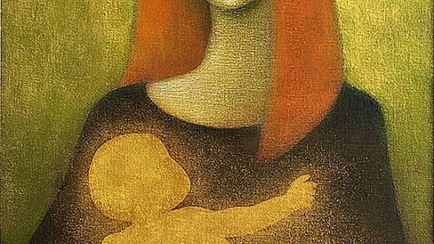 Jeden z vystavovaných obrazů.