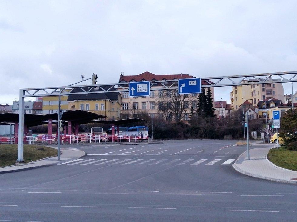 Autobusové nádraží v Kladně.