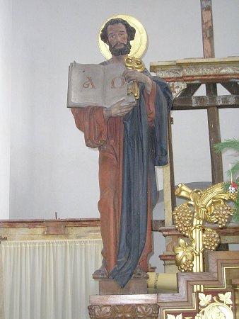 ODCIZENÁ SOCHA byla součástí oltáře kostela vŽilině.