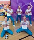 Dancers Kladno, 5. místo ve fitness pro dívky 8-10 let.