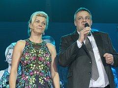26. reprezentační ples města Kladno, primátor Kladna Milan Volf s manželkou