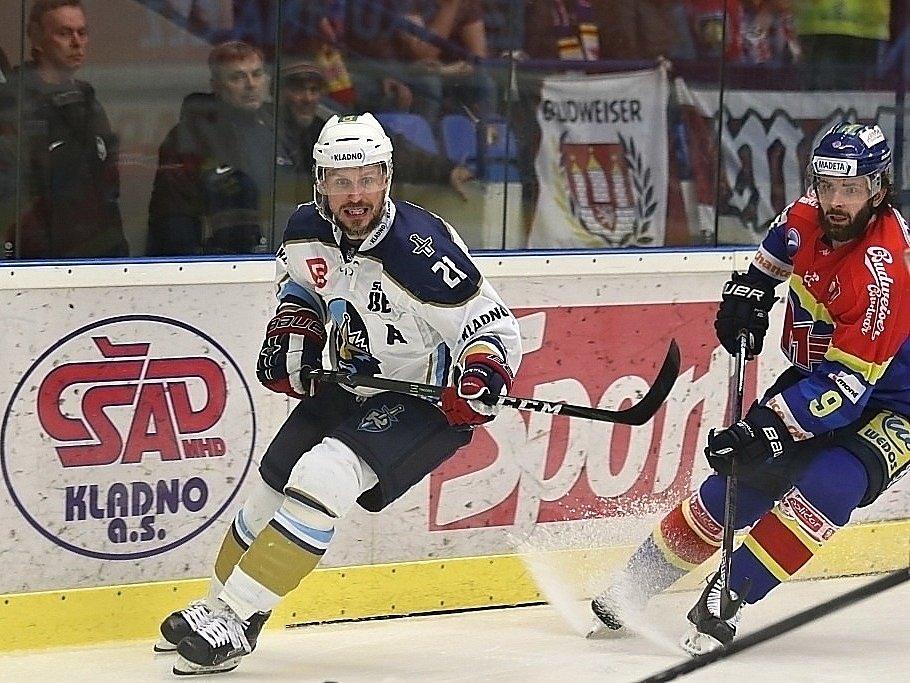 Kladno uspělo ve třetím barážovém duelu, porazilo 2:0 České Budějovice. Petr Vampola
