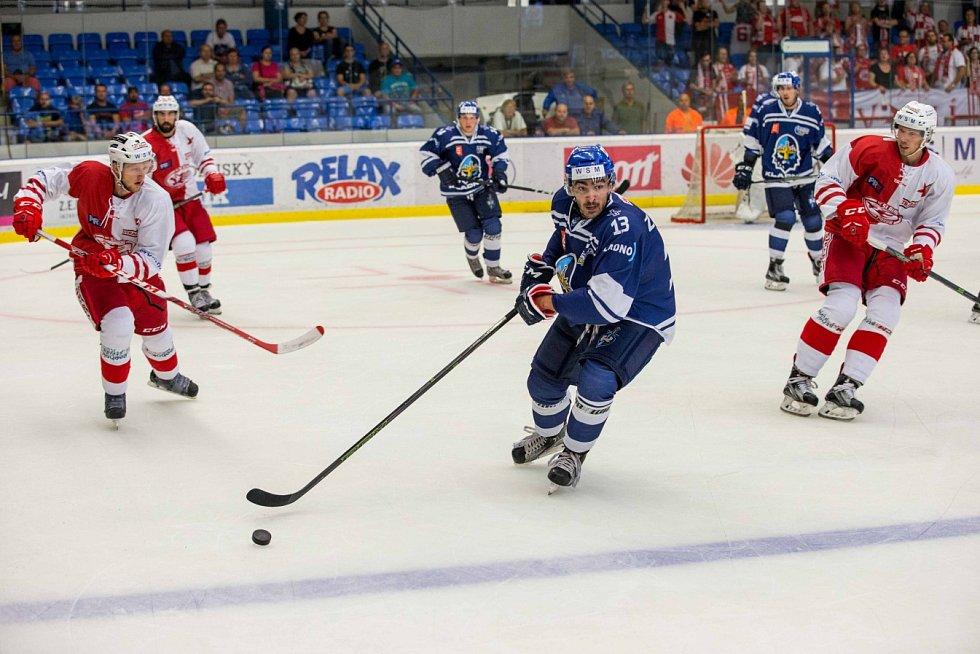 Kladno - Slavia, 4. kolo WSM ligy, v modrém Zikmund