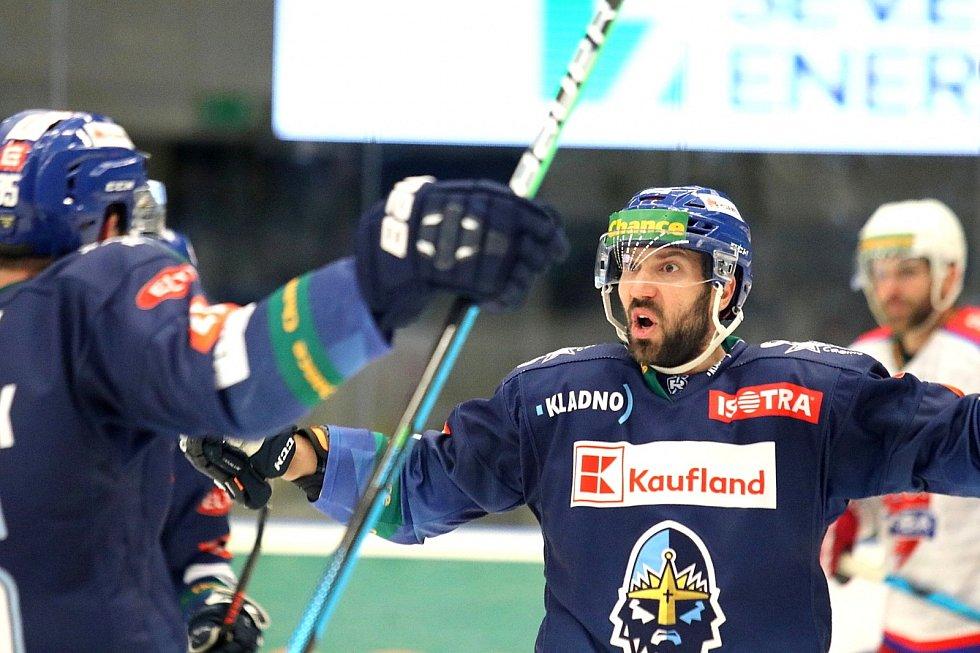 Kladno porazilo Porubu i ve druhém semifinále. Antonín Melka soupeře zlomil třetím gólem a přidal ještě jeden.