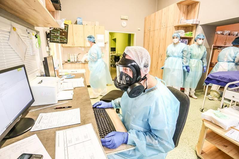 Covid jednotka intenzivní péče v nemocnici ve Slaném na Kladensku