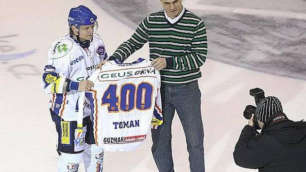 Milan Toman - 400 utkáních v extralize.