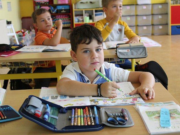 První třída pod vedením učitelky Hany Jelínkové.