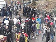 Fanoušci Českých Budějovic řádili v Kladně.