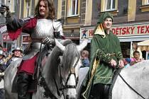 V letošním husitském průvodu nechyběl opět ani Jan Roháč z Dubé se svou družinou.