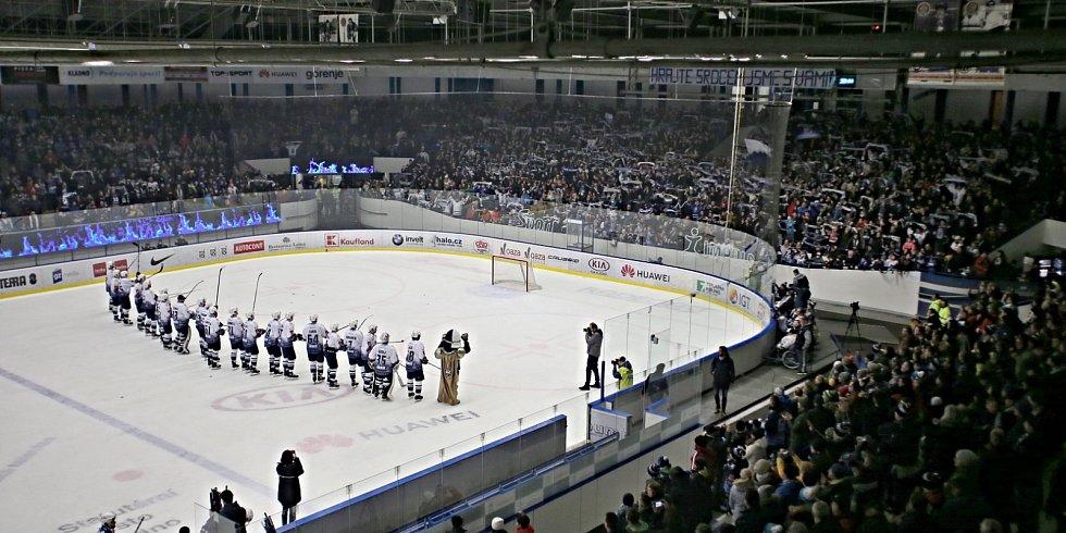 První děkovačka Rytířů směřovala do plných ochozů stařičkého kladenského zimáčku // Rytíři Kladno - Kometa Brno 5:1, ELH 17. 1. 2020