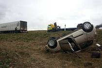 Nehoda nedaleko Tuřan.
