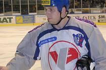Jan Kruliš jako hráč Kladna v baráži o extraligu v roce 2003.