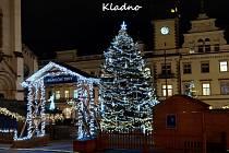 Vánoční strom ve městě Kladno.