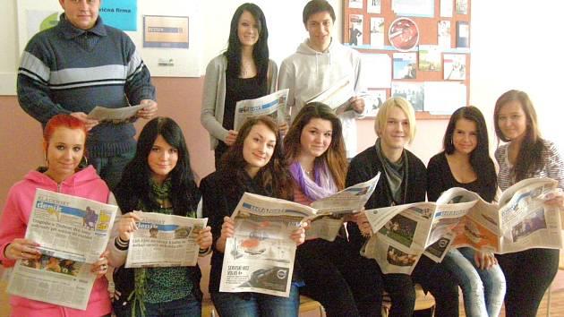 Studenti Střední hotelové školy Kladno.