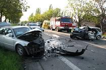 Sobotní nehoda u Lidic - pět zraněných, dva velmi těžce