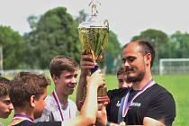 Vítězný tým Tuchlovic // Lidický pohár 2016, finálový turnaj 4. 6. 2016