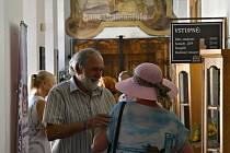 Zahájení výstavy Aleny Antonové a Lenky Štěpaníkové v Kladenském zámku.
