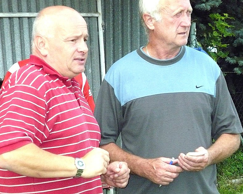 Trenéři Sokola Hrdlív Jaroslav Veselý a Petr Pazdera mohou být maximálně spokojeni.
