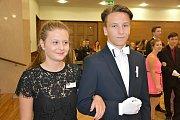 Páteční taneční hodina Michala Cyprise s partnerkou v Městském centru Grand ve Slaném.