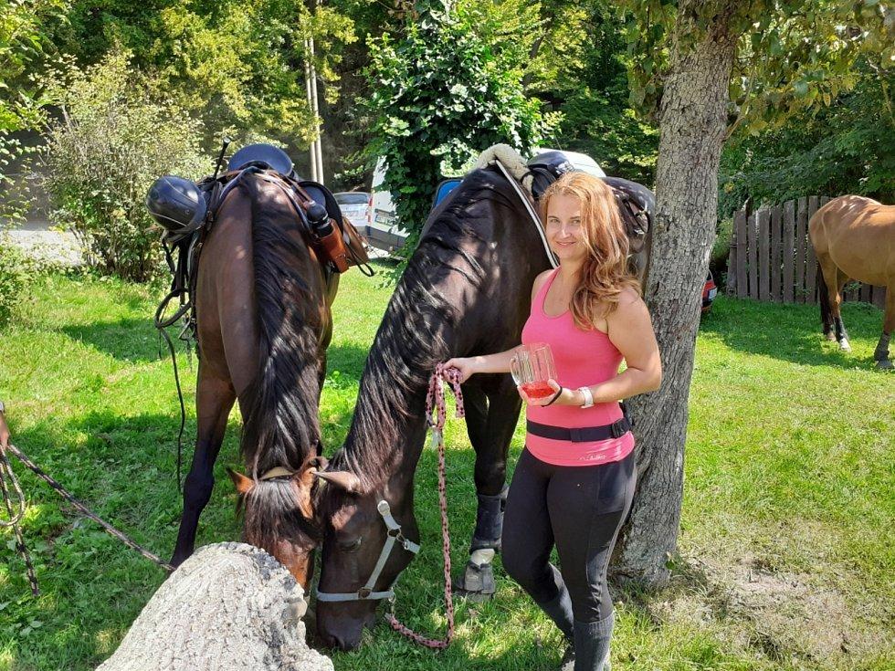 Šéfka Velké koňské výpravy Babeta Kvapilová.