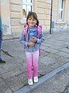 Děti si užily první školní den také ve Smečně.