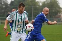 Sokol Hostouň - SK Český Brod 0:3 (0:1), Divize sk. B, 18. 9. 2016, vlevo Tomáš Krupička