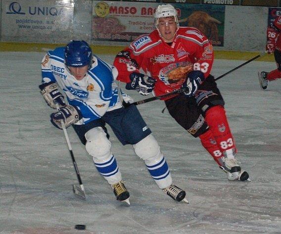 Matěj Kos (vlevo) hrál skvěle. Dal dva góly.