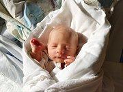 FILIP ŠTRACH, KLADNO. Narodil se 30. dubna 2018. Po porodu vážil 2,57 kg a měřil 48 cm. Rodiče jsou Andrea Mlynáříková a Karel Štrach. (porodnice Slaný)
