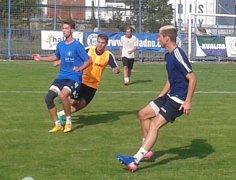 Poslední trénink Kladna před utkáním s Hrobci.