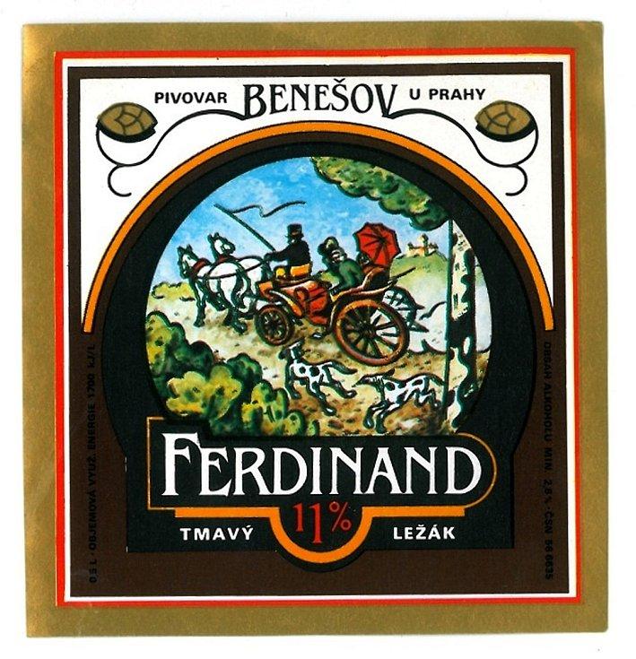 Tmavou etiketou byl označován v osmdesátých letech minulého století jedenáctistupňový ležák Ferdinand.