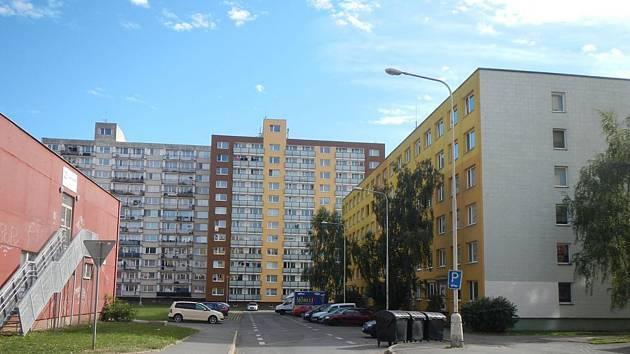 Kladenské sídliště v Kročehlavech.