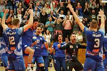 Kladno volejbal cz - Dukla Liberec 3:1, EL volejbalu, play off, semifinále, Kladno, 30. 3. 2017