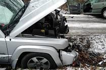 Dopravní nehoda u Dolan ve čtvrtek 3. prosince 2020.